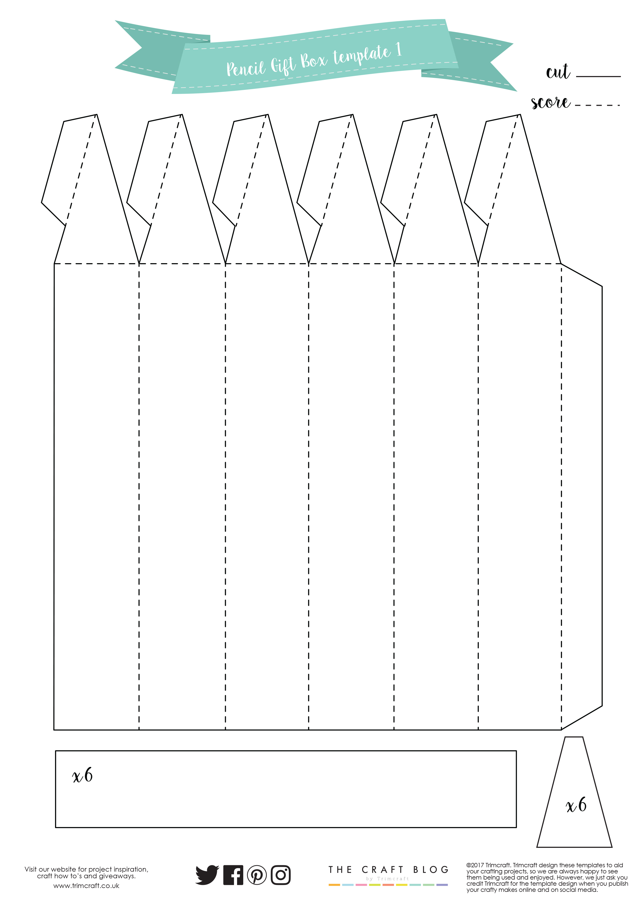graphic about Pencil Template Printable titled Instructor Pencil Present Box Guidebook wi The Craft Web site