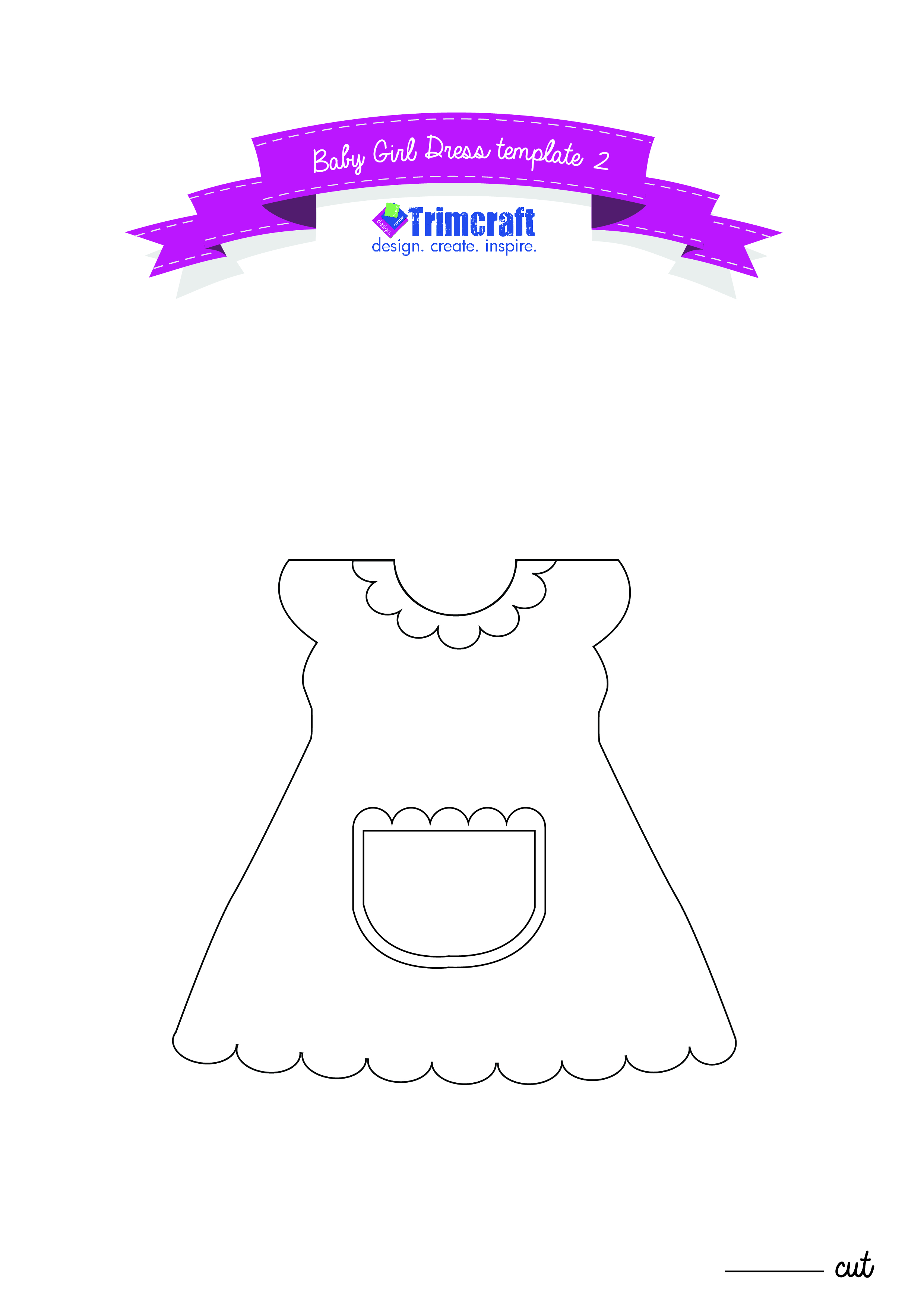 baby girl dress card tutorials with the craft blog