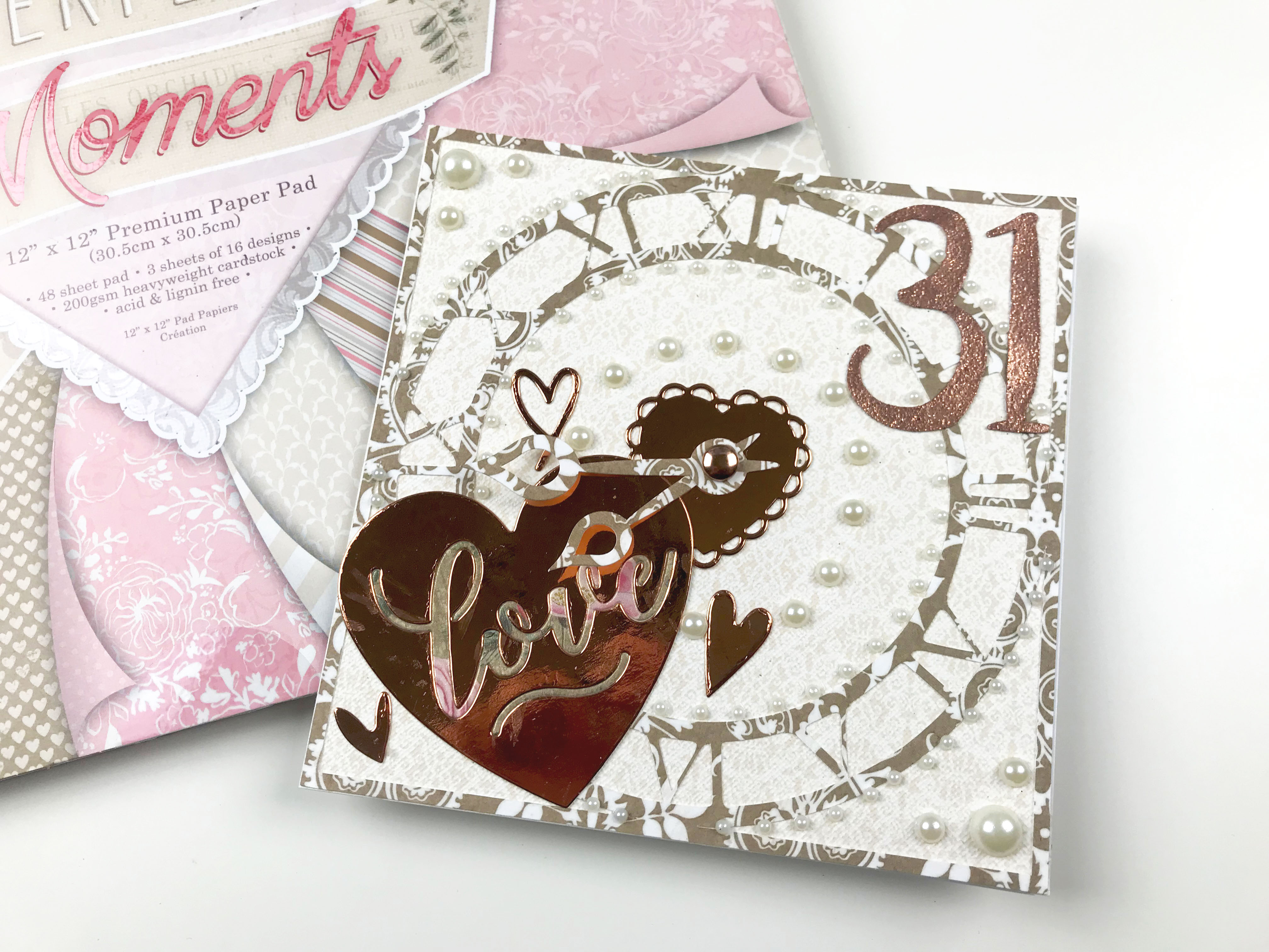 Perfect Moments Premium Craft Cardstock First Edition 12x12 Designer Paper Pad