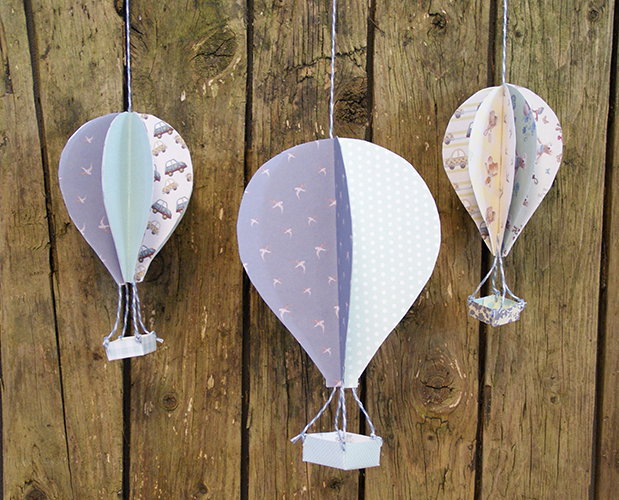 - 3D Hot Air Balloons With Printable Template