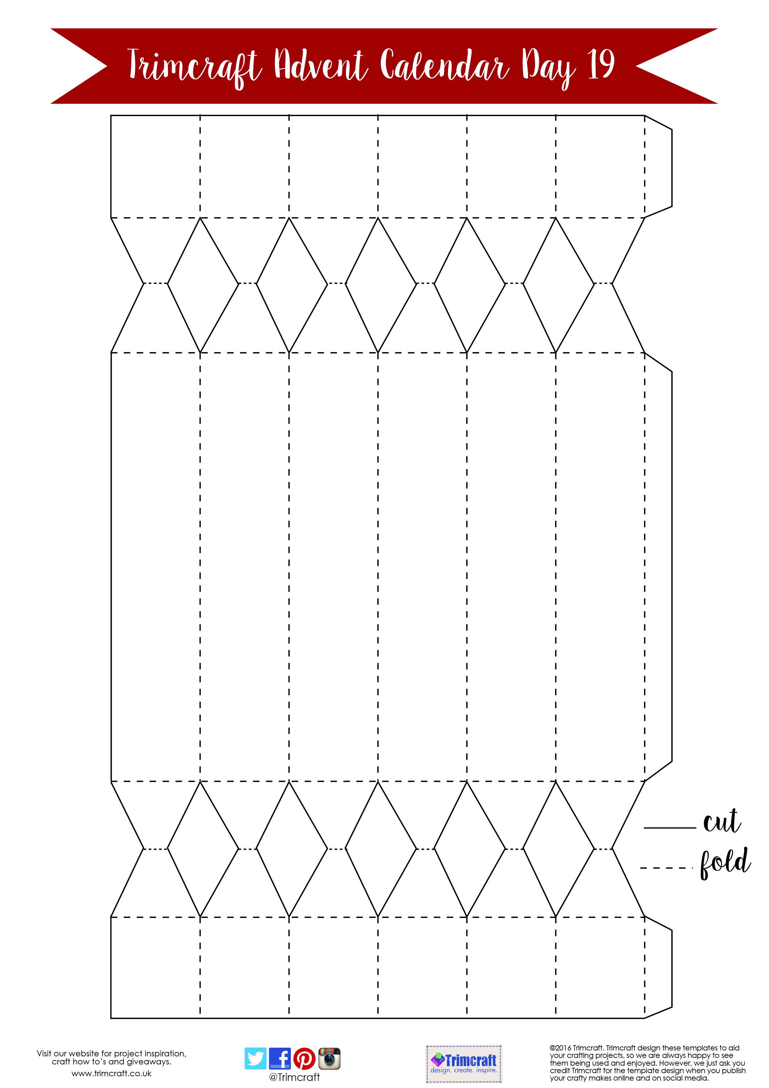 Free printable craft templates the craft blog trimcraft advent calendar day 19 free christmas cracker template saigontimesfo