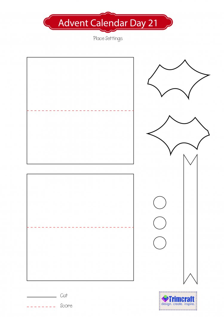 Holly Place Settings Template – Place Setting Template