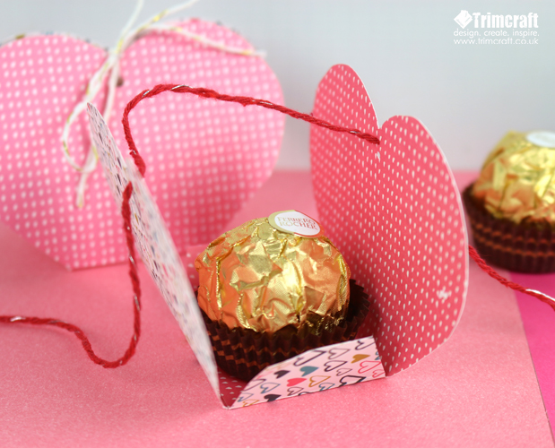 Valentine's Day Chocolate Holder Tutorial with Free Printable Template content image