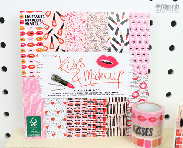 Sneak Peek of Dovecraft's Kiss and Makeup Papercraft Collection content image