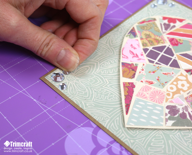 Dovecraft Painted Blooms Mosaic Heart Card Making Tutorial content image