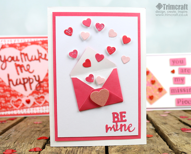 Quick Valentine's Day Card making Tutorials With Free Printable Template content image