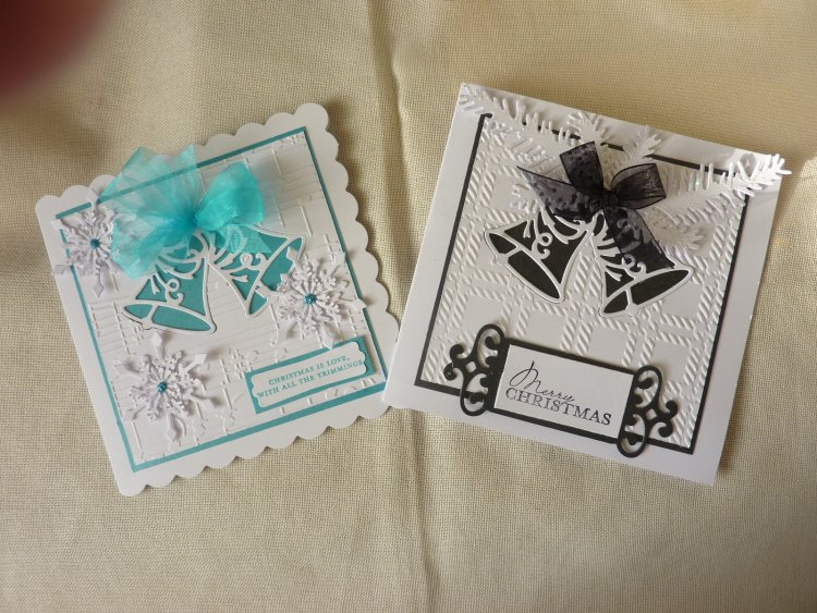 two die cut Christmas cards | Craft Inspiration